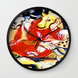 Marc Chagall To My Betrothed Wall Clock