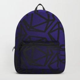 D20 Pattern - Purple Black Gradient Backpack