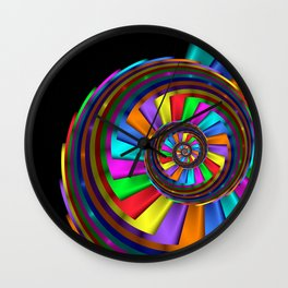 turn around with colors -13- Wall Clock