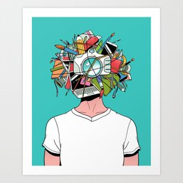 Creative Head Art Print