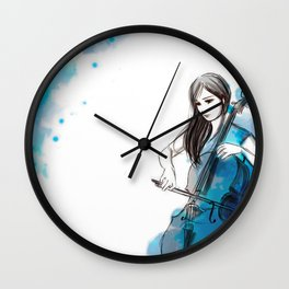 Mia and her cello Wall Clock