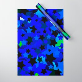 Punk Rock Stars Blue Wrapping Paper