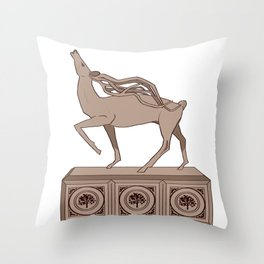 Halla statuatte grey Throw Pillow