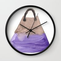 tote bag Wall Clocks featuring Tote 2 by ©valourine