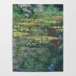 Water Lilies 1904 by Claude Monet Poster