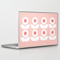 gemma correll Laptop & iPad Skins featuring MCM Bloomin' In The Pink by Lisa Jayne Murray - Illustration