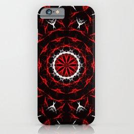 mandal art in red iPhone Case