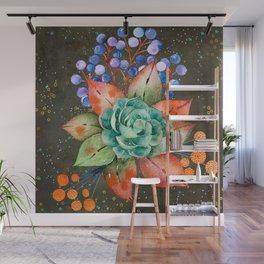 Watercolor floral Blooms Botanical Art #society6 #illusration #nature Wall Mural
