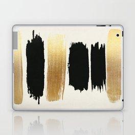 Brush Strokes (Black/Gold) Laptop & iPad Skin
