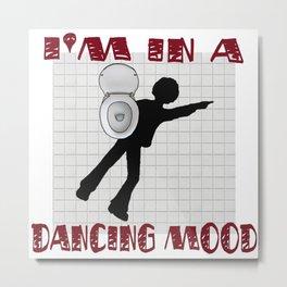 Dancing Mood Metal Print