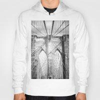 brooklyn bridge Hoodies featuring Brooklyn Bridge by Vivienne Gucwa