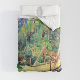 Lovis Corinth - Tyrolean landscape with bridge - Digital Remastered Edition Comforters