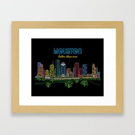Houston Better Than Ever Circuit Framed Art Print
