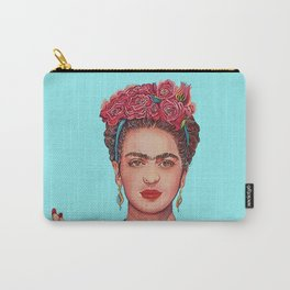 WOMAN WITH FLOWERS Carry-All Pouch
