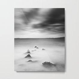 Rocky and milky sea Metal Print