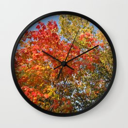 Autumn Leaves II Wall Clock