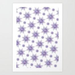 Symmetrical Shapes - Purple Burst Art Print