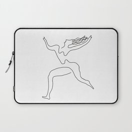 One line Picasso variant (with hair) Laptop Sleeve