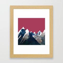 Geo Mountain Range (Part 2) Framed Art Print