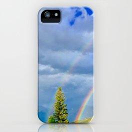 Canadian Rocky Rainbow iPhone Case