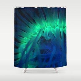 Fluorescent ring Shower Curtain
