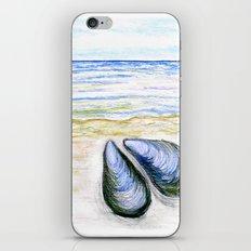 Blue mussel iPhone Skin