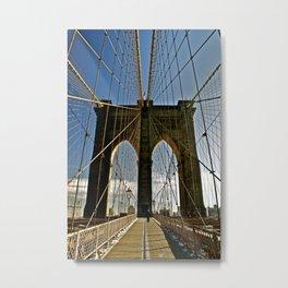 Brooklyn Bridge in Color Metal Print