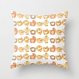 Silly Safari Pattern Throw Pillow