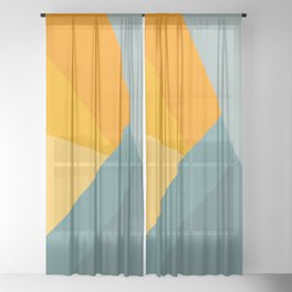 Abstract Mountain Sunrise Sheer Curtain