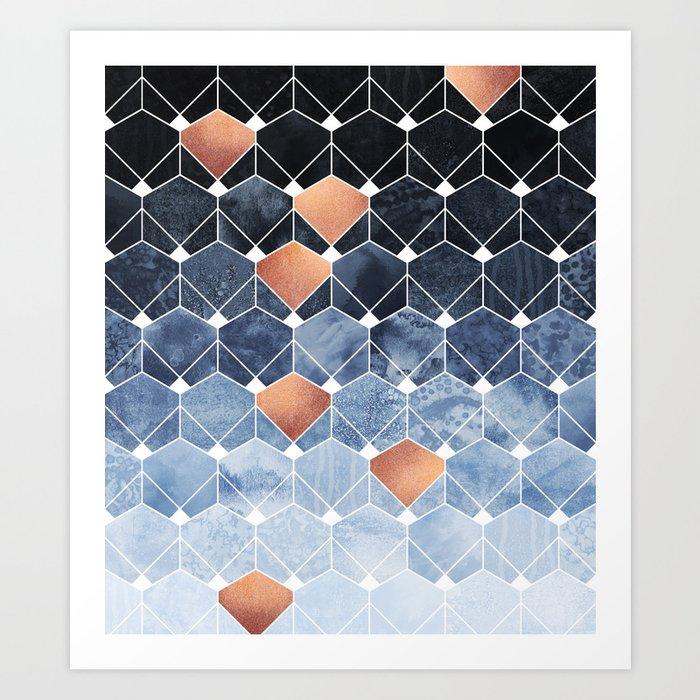 Copper Diamonds Art Print