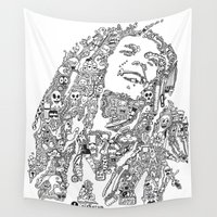 marley Wall Tapestries featuring Marley by Ron Goswami