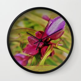 lovely pink buds Wall Clock