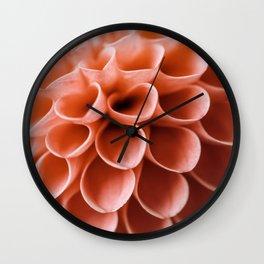 Dahlia Detail Wall Clock