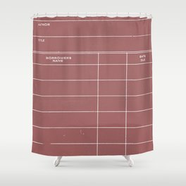 Library Card BSS 28 Negative Red Shower Curtain