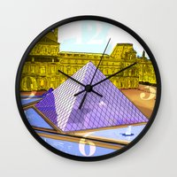 bonjour Wall Clocks featuring Bonjour by Hola Vicky