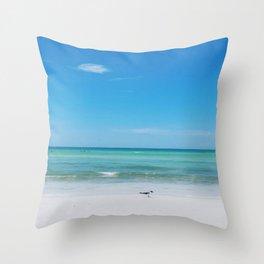 Honeymoon Island Throw Pillow