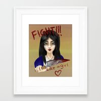 alice x zhang Framed Art Prints featuring Alice by Sarah Amer