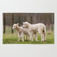 lamb Area & Throw Rugs featuring lamb by Marcel Derweduwen