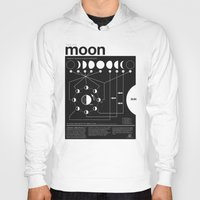 moon Hoodies featuring Phases of the Moon infographic by Nick Wiinikka