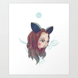 Rabbit Girl Art Print