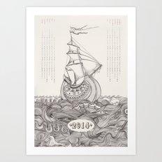 Kalender 2014 Art Print
