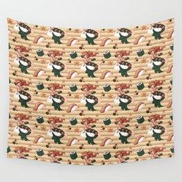 Mermaid Sushi Wall Tapestry