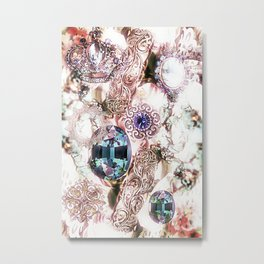 Pearly Bling Metal Print