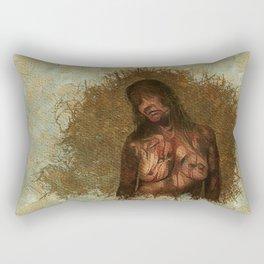 Zombie Woman Mark One Rectangular Pillow