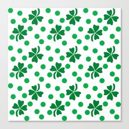 Pattern for St. Patrick's Day Canvas Print