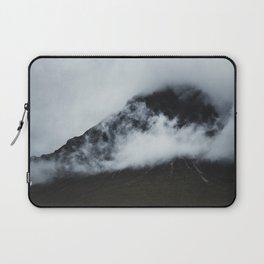 Peak hidden in the clouds Laptop Sleeve
