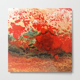 Red Abstract Art - Lava - By Sharon Cummings Metal Print