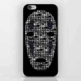 No-Face Mask Typograph iPhone Skin