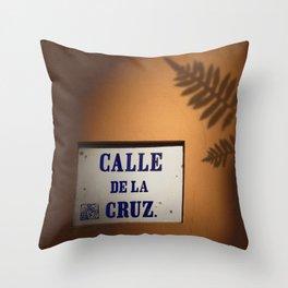 De la Cruz, Old San Juan Light Throw Pillow