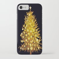christmas tree iPhone & iPod Cases featuring Christmas tree by valzart